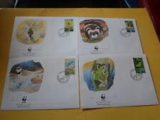 Liechtenstein 1989 Wwf Wild Frosch-Libelle-Iltis-Regenpfeife First Day Covers