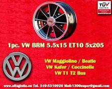 1 Cerchio Lega Volkswagen BRM 5.5x15 Maggiolino Käfer T1 T2 1pc. Wheel felge TUV