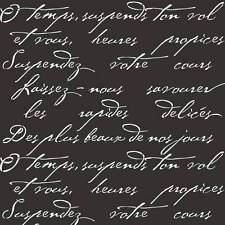 French Poem Craft Stencil - Stencils for Home Decor - By Cutting Edge Stencils