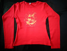 tee-shirt rouge à manches longues SIZE S TBE