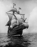 REPLICA OF CHRISTOPHER COLUMBUS SHIP SANTA MARIA 8x10 SILVER HALIDE PHOTO PRINT