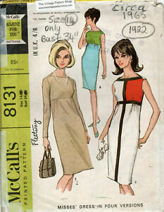 "1965 Vintage Sewing Pattern B34"" MONDRIAN Shift DRESS (1922)"
