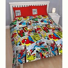 Marvel Comics Justice 2 en 1 set Housse de couette double Captain America