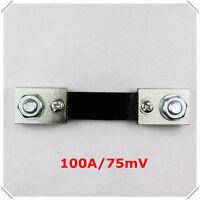 100A 75mV DC Current Shunt Resistor for 100A AMP Panel Meter Ammeter
