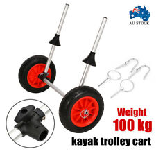 Kayak Trolley Carrier Cart Wheel Collapsible Foldable Aluminium Canoe 100kg AUS