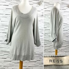 REISS Soft Grey Lambswool / Cashmere Oversize Jumper - Size M