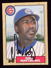 GARY MATTHEWS 1987 TOPPS Autographed Signed AUTO Baseball Card CUBS 390