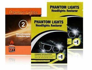Car Headlights Cleaner Phantom Lights Restoration Kit Cleans Foggy Opaque Lenses