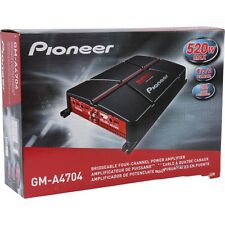 Pioneer GM-A4704 520 Watts 4-Ch Bridgeable Class AB 2-Ohm Stable Car Amp GMA4704