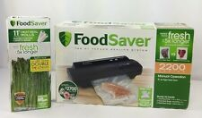 Foodsaver 2200 Series Black With Extra Bags New Other