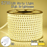 LED 1M2M3M5M10M 5730 Strip Light 120LEDS/M Flexible Tape Rope Waterproof SMD220V