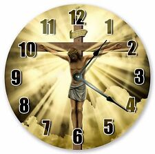 "10.5"" JESUS AT THE CROSS CLOCK - Large 10.5"" Wall Clock Home Décor Clock - 3175"