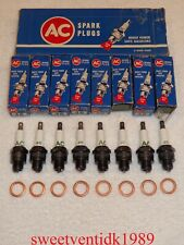 NOS AC-46 Spark Plugs...'1958'...NO GREEN RINGS...w/Copper Gaskets...GM 1559494