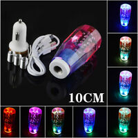 LED Light RGB Shift Knob Stick Crystal Purple Blue Bubble Gear Shifter 10CM