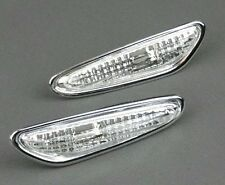 BMW 3 & 5 Series & X3 CRYSTAL CLEAR CHROME - Side Wing Indicators Repeaters PAIR