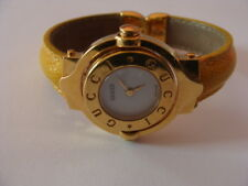 Rare Brown Ladies Gucci Watch reversible face 18k gold plated