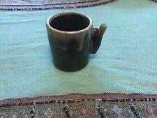 VINTAGE POTTERY BROWN DRIP GLAZE Espresso  Cup CERAMIC Unique