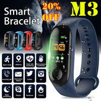 M3 Smart Band Watch Bracelet Wristband Fitness Tracker Blood Pressure HeartRate*