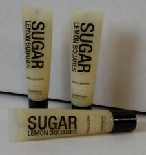 ( 3 ) Hempz Treats SUGAR LEMON SQUARES Lip Shine Gloss Balm ~ Free Shipping