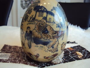 A Rare Antique Chinese Hand Painting Egg