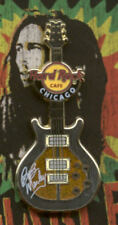 Hard Rock Cafe Chicago Bob Marley Signature Series 34 Guitar Pin with Cafe