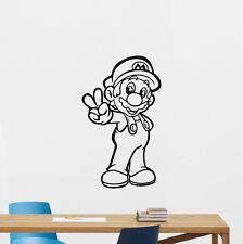 Super Mario Wall Decal Video Game Vinyl Sticker Playroom Decor Art Poster 272hor