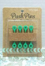 Teal Green Teardrop Star 8 Push Pin Cork Board Home Office Dorm Teacher School
