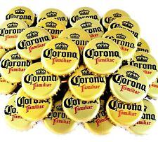 "25 ""Corona Familiar"" Beer Bottle Caps *Sanitized* Gold Import Bottle Crown Caps."