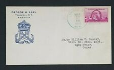 1945 Tribes Hill NY To Camp Maxey TX George H Abel Color Patriotic Cover