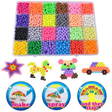Kids Aqua Water Fuse Beads Refill Aqua Beads 24Separate Color Packing Toy  00006000 3200X