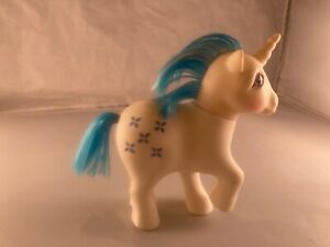 My Little Pony Vintage G1 MLP  Majesty ~Gorgeous white w blue glitter cutie mark