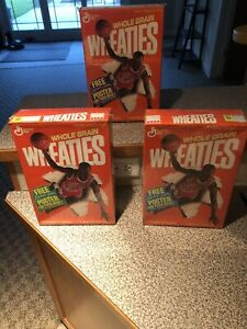 1989 Michael Jordan Wheaties Boxes A, B, & C FACTORY SEALED !!   Poster In Box !