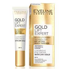 NEW EVELINE Gold Lift Expert Eye Cream 15ml Anti Wrinkle, Reduce Under Eye shade