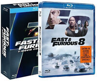 FAST AND FURIOUS Collezione Completa 01 - 08 (8 Blu-ray) Vin Diesel