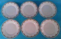 Seis Platos Llanos Porcelana de Limoges de P.P Diámetro 22CM