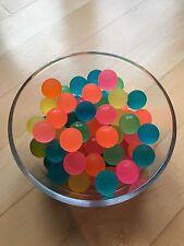 10 Stk Set Mini Neon Flummi Kinder Ball Spielen drinnen draußen bunt sortiert