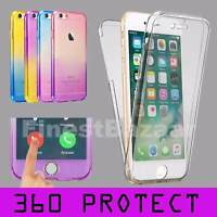 For iPhone 7 8 Front & Back TPU Gel Clear 360° Full Body Protective Case Cover