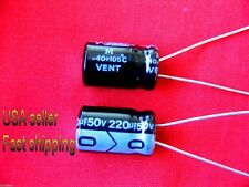 4 pcs  -  220uf 50v  electrolytic capacitors 105c  FREE SHIPPING