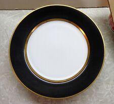 Fitz Floyd Renaissance Black White Gold Bread Plates 4 Elegant Unused 1984-96