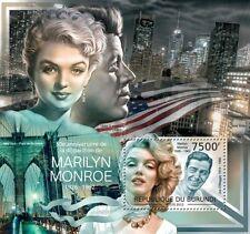 Marilyn Monroe JFK Kennedy actress film Burundi 2012 MNH s/s Sc. 1178 #BUR12514b