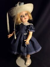 Vintage 1950s Ideal Toni Or Mary Hartline Doll P - 91 With Dress, Hat and Stand