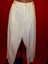 "~~RALPH LAUREN POLO Vintage white Khaki Officers Pants 38"" x 40""~~xl"