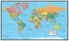 Smithsonian Journeys World Map Blue Ocean Wall Decor Special Collectors Edition