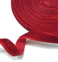 "Red Velvet Ribbon Bow Trim Craft DIY Decoration  Wrap 1/4"" 7mm W34"