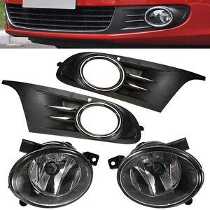 For 2010-2012 Volkswagen Golf MK6 Jetta Vent Fog Light Grill Cover+ Fog Lights