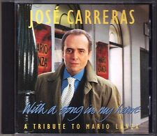 Jose CARRERAS: WITH A SONG IN MY HEART Because Granada Santa Lucia Marechiare CD