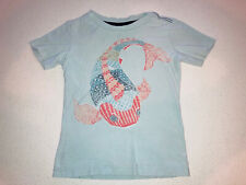TEA COLLECTION Short Sleeve Shirt Fish Blue Size 6 Boys