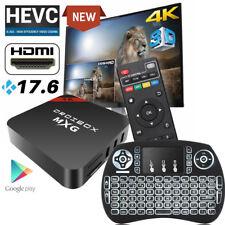 2019 MXG 4K Android 7.1 TV Box HD Media Player 17.6 WIFI HDMI+Mini Keyboard UK