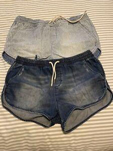 Womens Billabong Denim Shorts (2x Pairs)