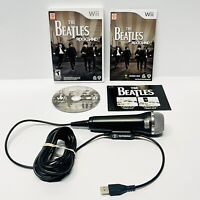 Wii Rock Band - THE BEATLES With Rock Band Microphone Bundle - CIB Tested Works!